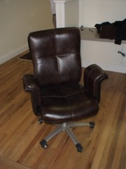 Brown Leather Office Chairs Main Photo